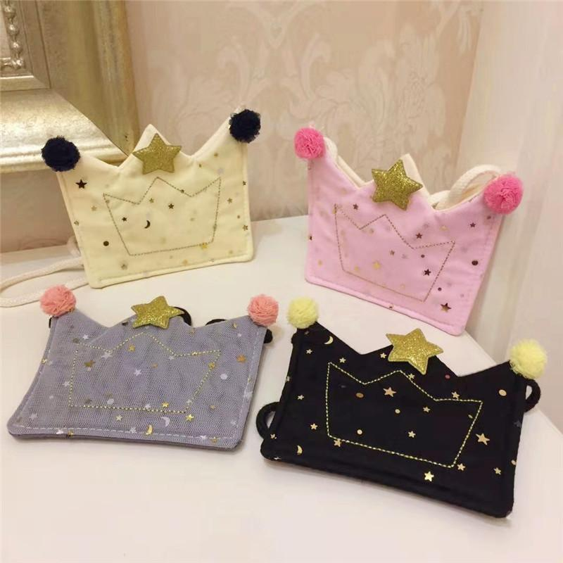 5PCS Cute Baby Coin Purse Kawaii Glitter Sequin Kids Small Zero Wallet Bag Toddler Girls Crown Mini Money Pouch Change Purses