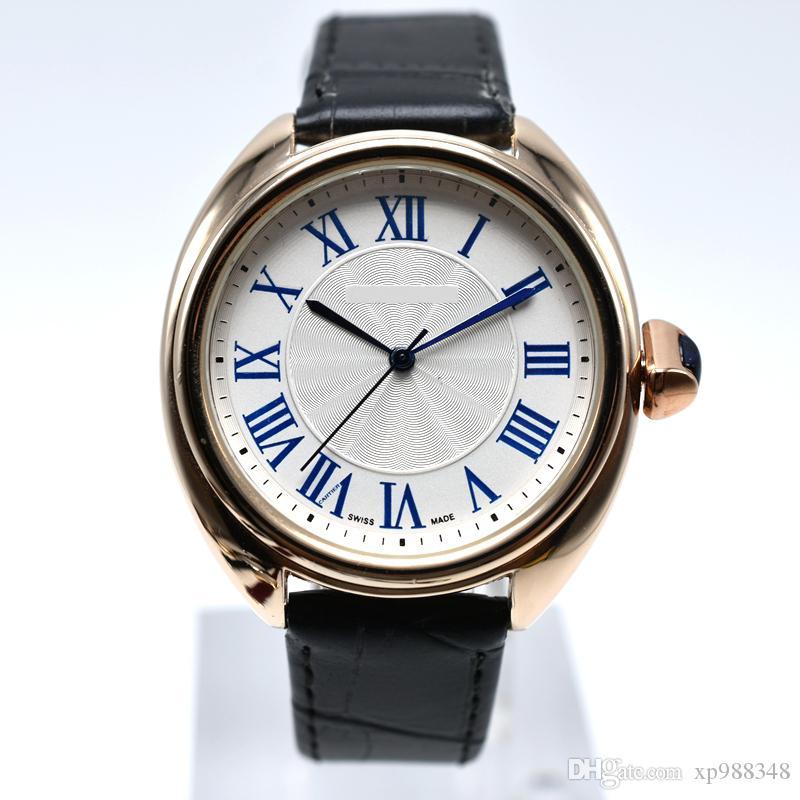 블랙 로마 패션 가짜 가죽 남성 블루 레이 유리 석영 아날로그 시계 캐주얼 쿨 손목 시계 남성 시계 손목 시계 다이얼