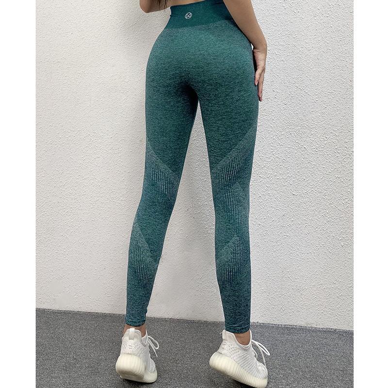 Taille haute sans couture Pantalon de yoga Push Up Collants running leggings Athletic Leggings Fitness Gym Sport Femmes Stretchy Collants