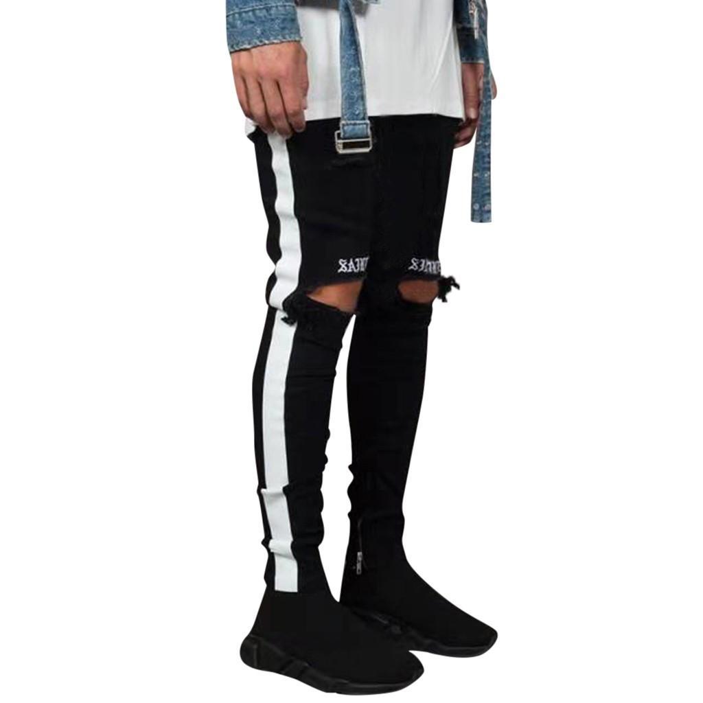 Pantalón de bolsillo de algodón de algodón de algodón de algodón de algodón de algodón jeans apenado pantalón Streetwear Pantalon homme traje # 3