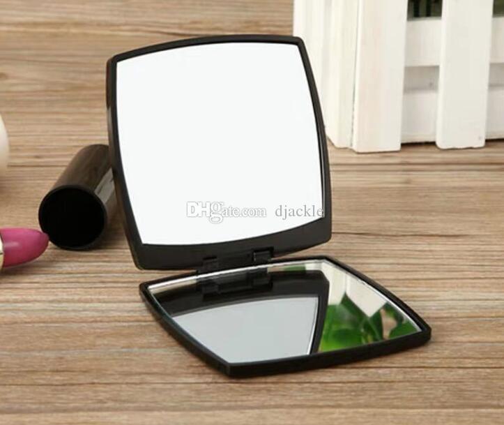 أزياء العلامة التجارية الفاخرة المدمجة المرايا مستحضرات التجميل مصغرة مرآة يد ماكياج الجمال أداة الزينة محمول قابلة للطي facette 2-الوجه مرآة