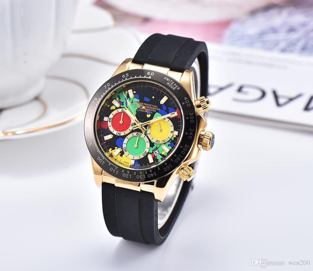 Alle Unterteilen Arbeit Freizeit Herrenuhren Luxus Herrenuhren Coole Wasserdichte Armbanduhren Stoppuhr Watch Watch ReloGies für Männer Relojes am besten