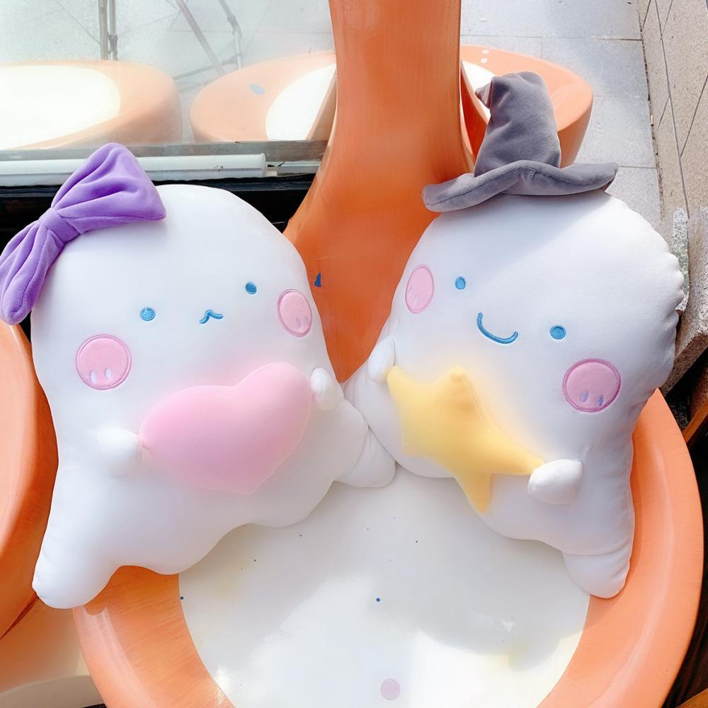 Ins hot high quality small ghost pillow cushion plush toy exquisite doll pendant sweet cute girl bag decora birthday gift for