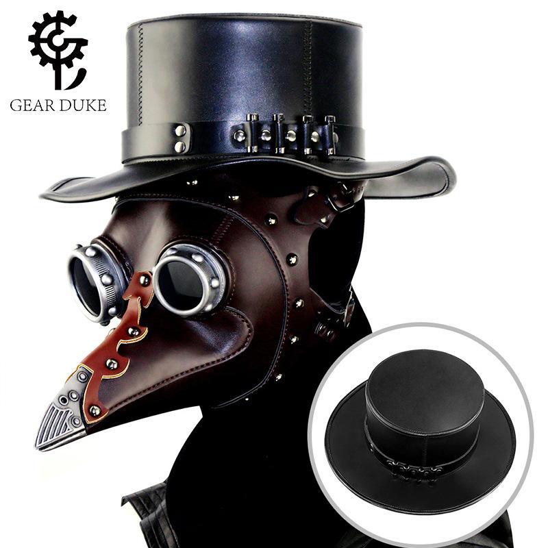 개인화 된 할로윈 폭발 모델 유럽과 미국의 펑크 의사 중립 매직 모자 신사 탑 모자 공 코스프레 소품
