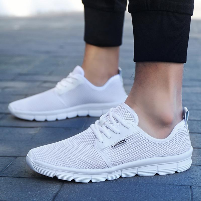 Spor Ayakkabı Erkekler Ultra Hafif Nefes Mesh Spor Ayakkabılar Dantel-up Erkek Açık Kaymaz Yürüyüş Ayakkabı Koşu Koşu Koşu