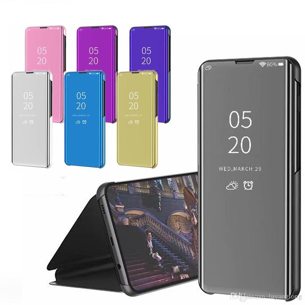 Pour Huawei P Smart Plus 2019 Coque Miroir Vue Flip Smart Cover En Cuir Pour Huawei Psmart Plus 2019 Couverture Honor 10i Cas Proposé Par Luyangtong, ...