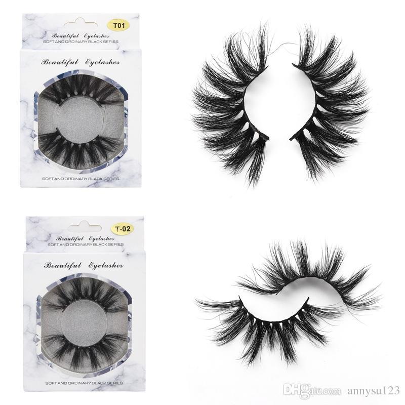 2019 hot 100% 3D Mink cílios Cabelo 25mm cílios Cílios Postiços melhor do que o 3d Grosso Longo Desarrumado Cross Eye Lashes Extensão Maquiagem Dos Olhos ferramentas