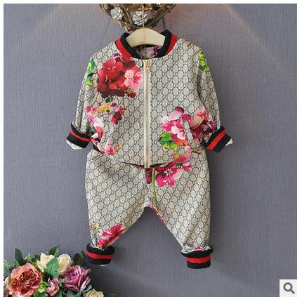 New Boys Sets Girls Letter Football Baseball Tracksuit 2pcs Sport Suits Set(jacket Pant)kids Outfits Baby Tracksuits Childrens Clothes