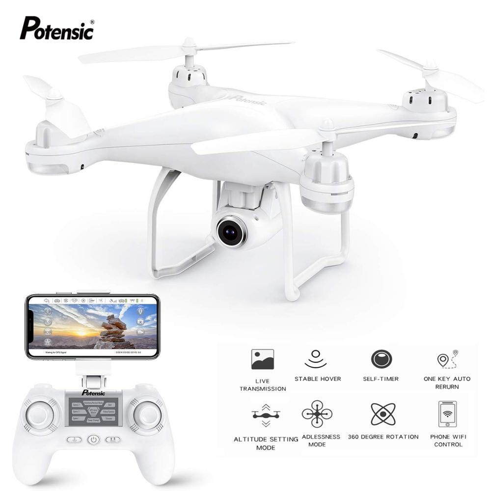 Potensic T25 GPS بدون طيار FPV مع 1080p HD كاميرا Wifi Rc بدون طيار Filfie Follow Me Quadcopter GPS Glonass Quadrocopter 300M T200420