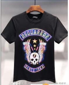 D2 T-Shirt De Mode Designer Hommes Multi-Style icône noir blanc hommes de t-shirt De luxe coton livraison gratuite d21