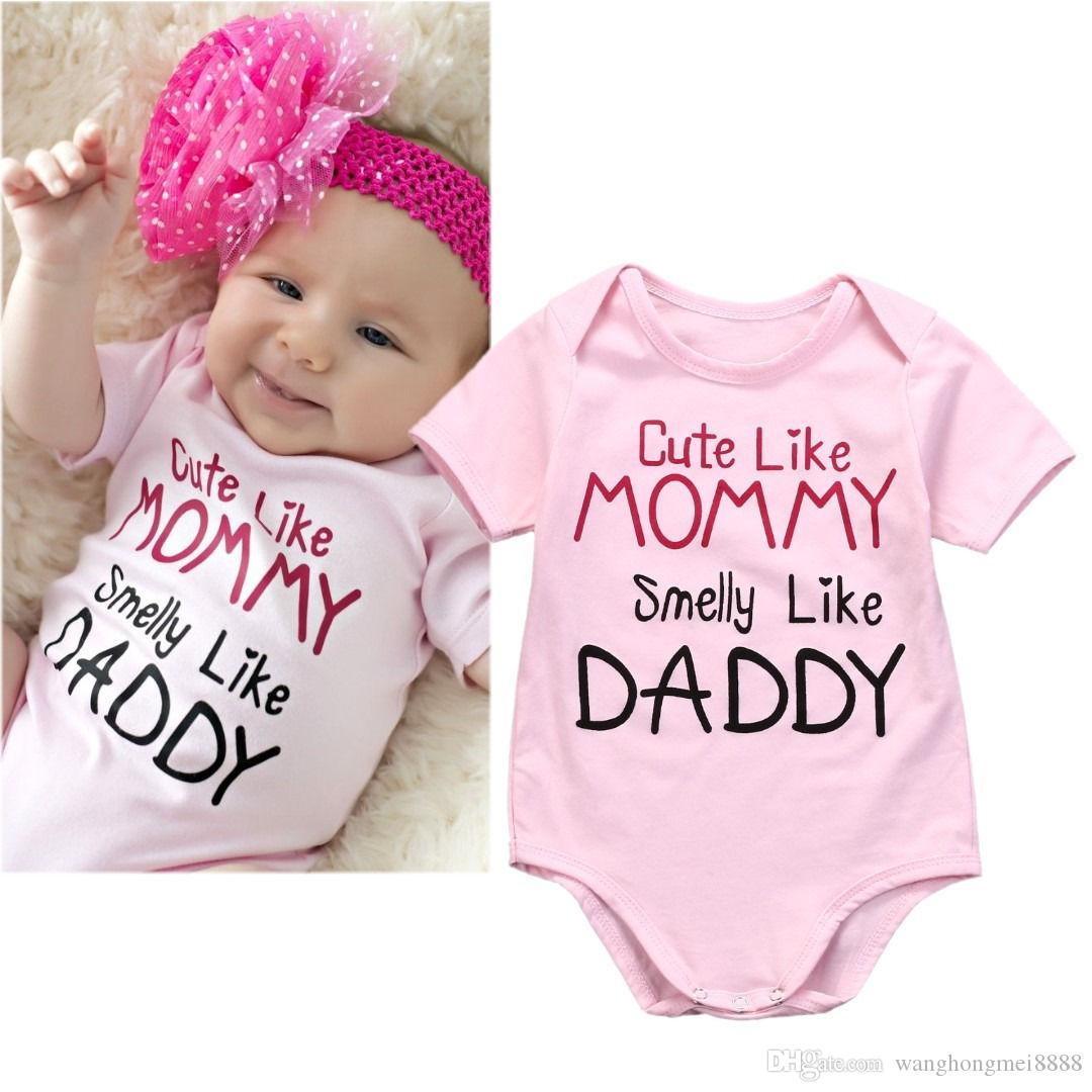 Yaz Çocuk Giyim Bebek Giysileri Kız Romper Yenidoğan Toddler Bebek Kız Pamuk Pembe Pamuk Romper Tulum Kıyafetleri Giysileri 0-18 M