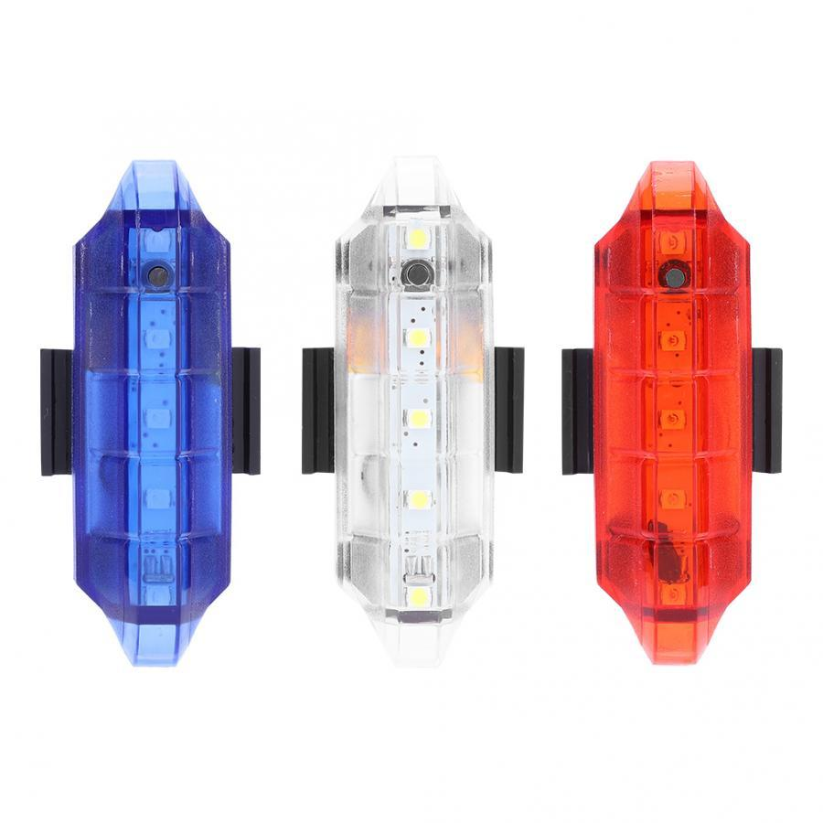 USB Rechargeable 5LED Bicycle Tail Light 4 Mode Bike Rear Lamp Built-in Battery
