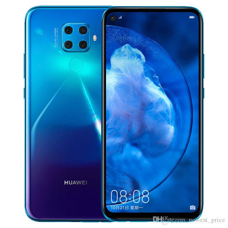 Оригинальный Huawei Нова 5З сети 4G LTE сотового телефона 6ГБ оперативной памяти 64 ГБ 128 Гб ROM Кирин 810 Окта основные Android 6.26 дюймов 48MP ID отпечатков пальцев лицо мобильный телефон