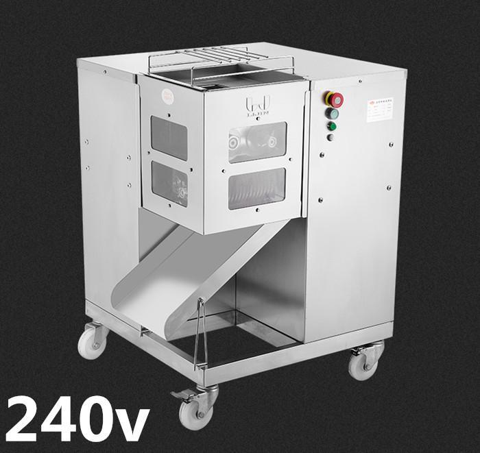 Freies Verschiffen 240V qsj-g Heißer Verkauf Multifunktions Fleischschneidermaschine, 800kg / h, Fleisch Slicer Fleisch