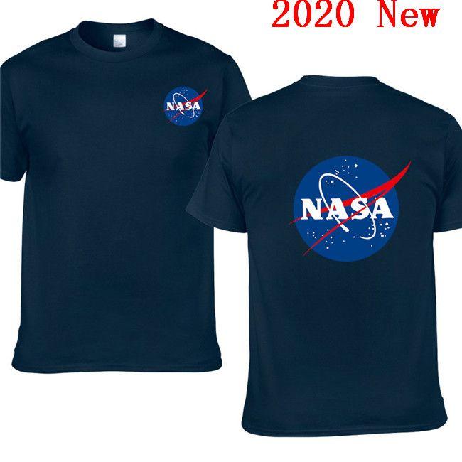 2020 Nuovo NASA Space tshirt Retro T-shirt di cotone Le camice di marca Nasa Stampa da uomo abbigliamento estivo T-shirt manica corta EL-5