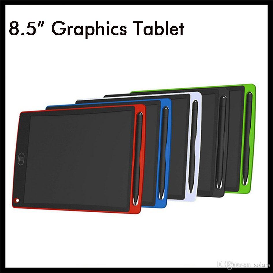 8.5 بوصة LCD الكتابة اللوحي رسم لوحة الرسومات سبورة الكتابة اليدوية وسادات هدية للأطفال بلا أوراق المفكرة أقراص مذكرة