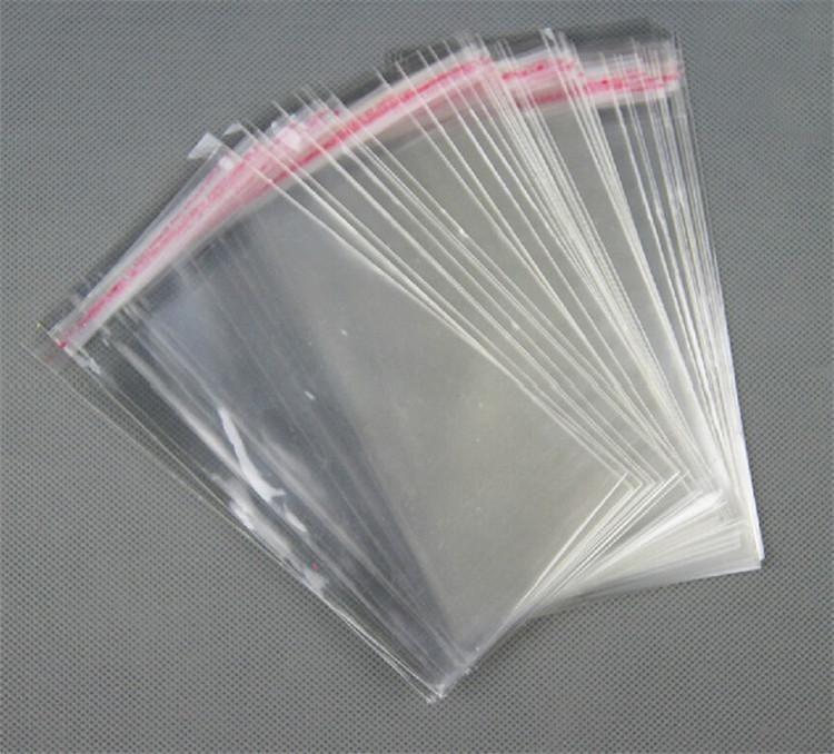 PE Effacer refermable cellophane OPP Sacs Poly sac transparent Opp d'emballage Sacs en plastique auto-adhésif Joint 4 * 6cm, 6 * 10cm, 14 * 20cm, 1000