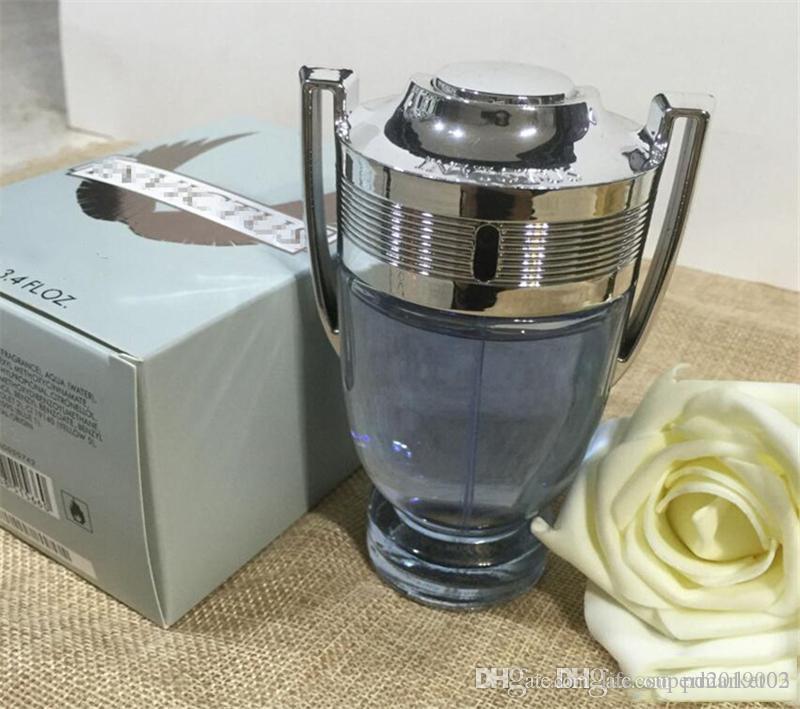 Nueva 100ML Perfume Vaporizador Invictus 3,4 oz EDT Colonia para Hombres buen olor de envío de alta calidad de larga duración