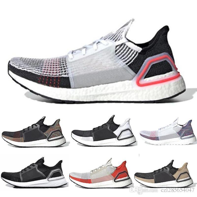 2019 Ultra Boost 5.0 Oreo Dark Pixel Zapatos para correr para hombre y mujer Zapatos deportivos Arena blanca pura Multi Ultraboost Trainer Sport Sneakers 36-45