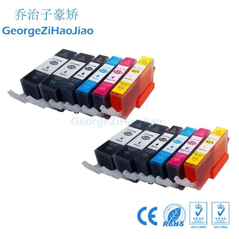 12X520XL Canon 520 Mürekkep Kartuşu için Uyumlu pgi520 cli521 pgi-520 için PIXMA MP540 MP630 MP640 MP990 MP996