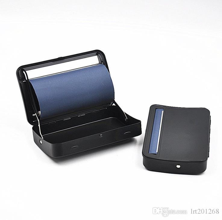 금속 순수 컬러 담배 가전 손으로 압연 자동 퓨어 블랙 담배 상자