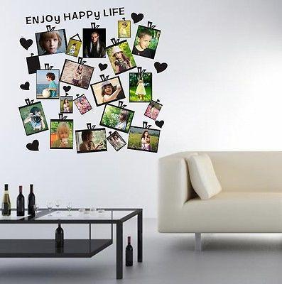 Wall Paper 20Pcs DIY Family Picture Photo Frame Wall Sticker Removable Mural Home Decor Decal