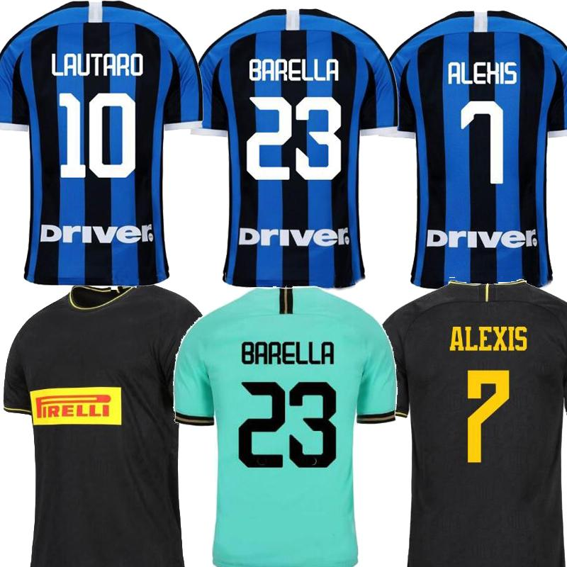 2019 Inter ERIKSEN Milan LUKAKU home 20th anniversary away green Black Men soccer jersey ALEXIS maillot de foot Football shirt uniforms 2020
