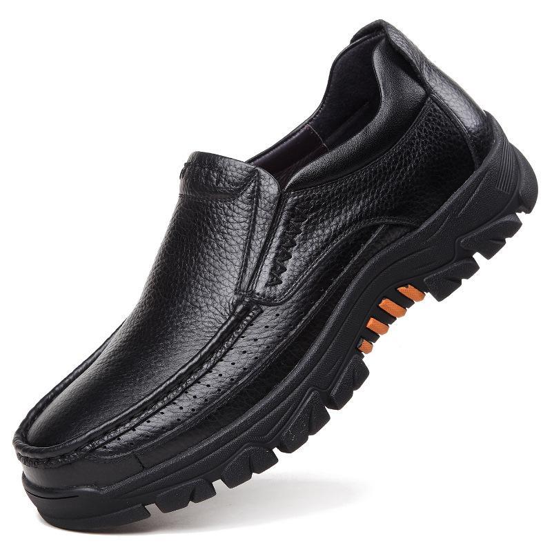 2020 أحذية جلدية حقيقية الرجال المتسكعون لينة جلد البقر الرجال الاحذية 2020 الجديدة ذكر الأحذية الأسود براون الانزلاق على A2088