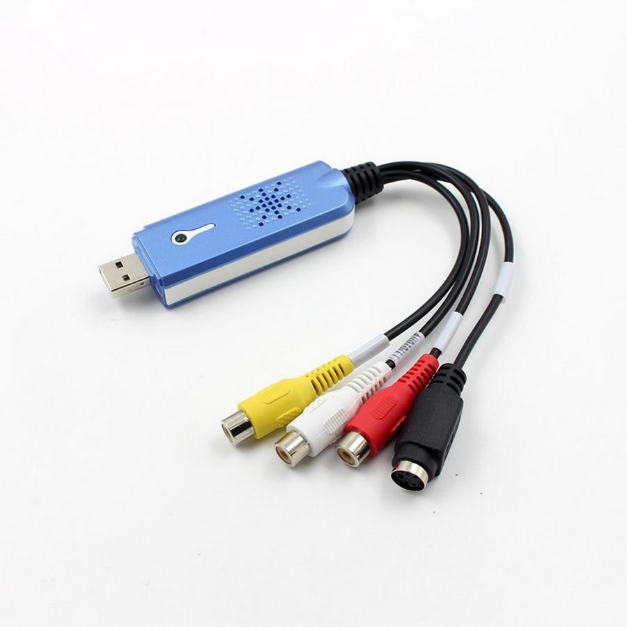 20pcs USB 2.0 Converter Audio Video Grabber Captura Adapter for Win XP 7 8 10 NTSC PAL OC11 Dropship