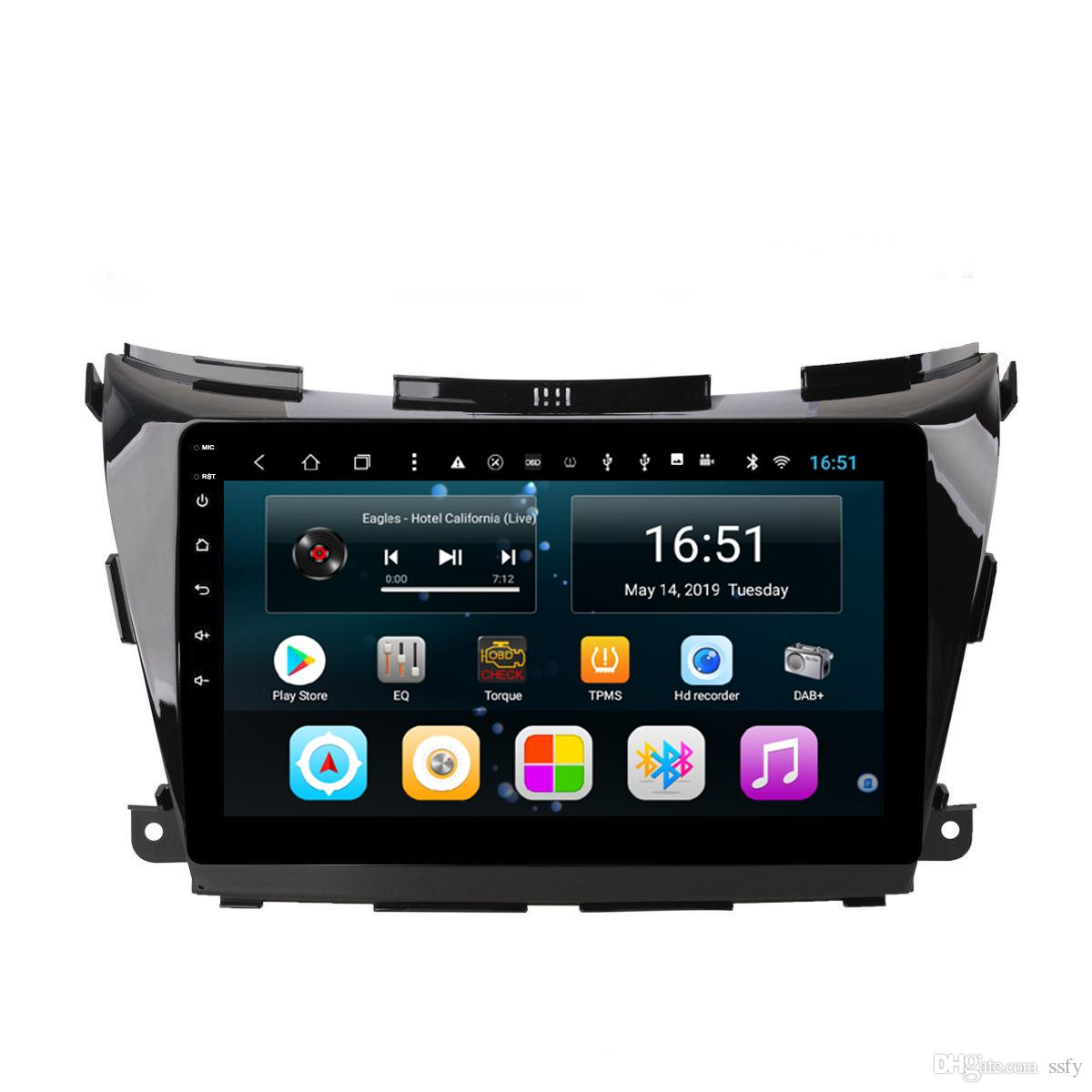 Android car radio with precise GPS excellent bluetooth resolution HD 1024 * 600 music microphone for Nissan Murano 2015-2017 10.1inch