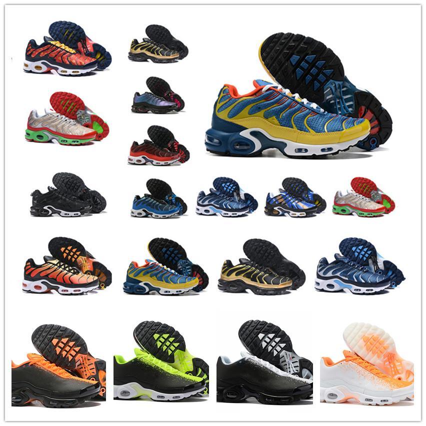 2.019 tn Plus SE zapatos para correr para hombre blancas negro Hyper psíquico azul de lujo de los deportes de la moda de los vidrios 3D transpirable zapatillas de deporte los de tamaño 40-46