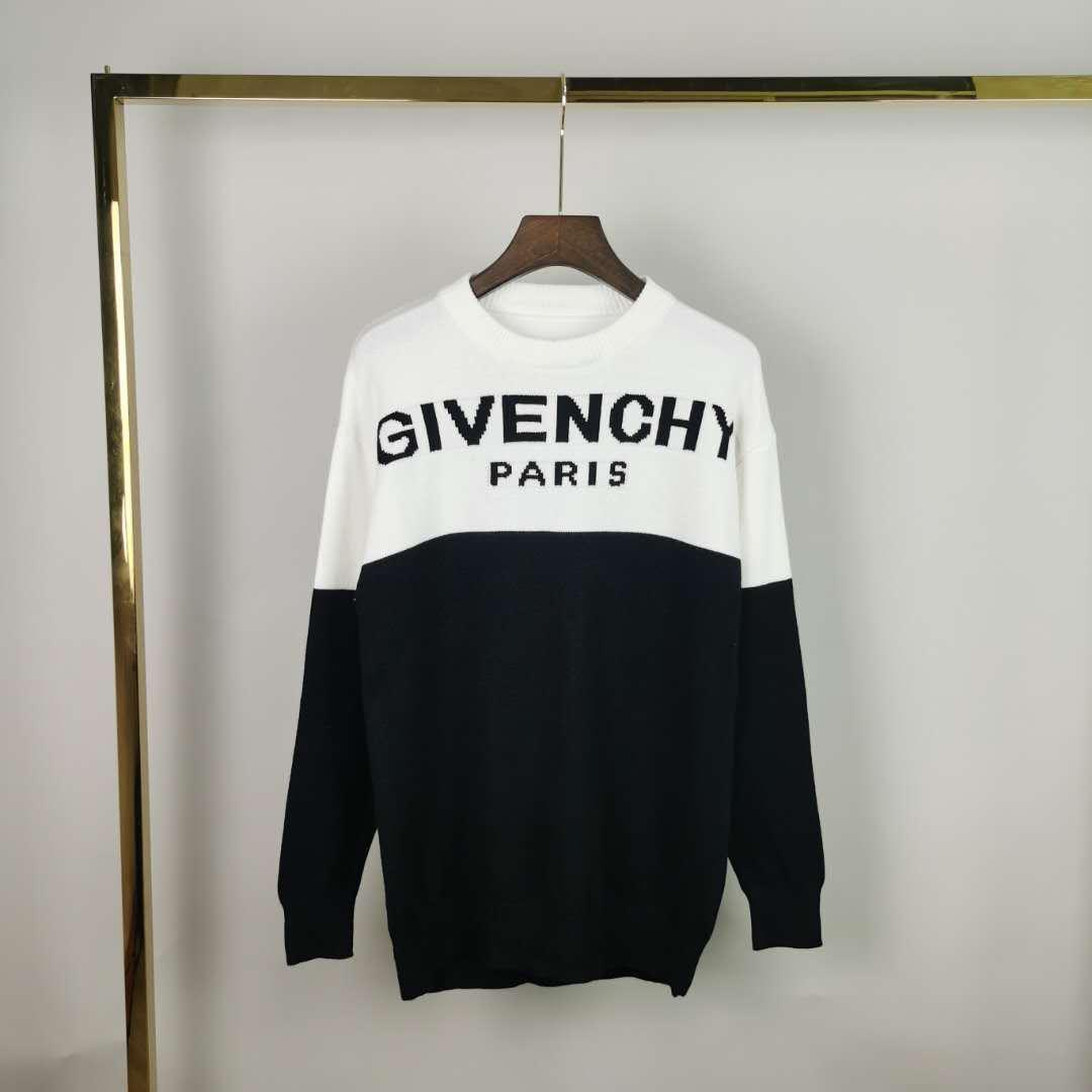 2020 France latest Autumn Winter Sweaters Jacquard letters printing casual high-quality fashion men women wild top three colors