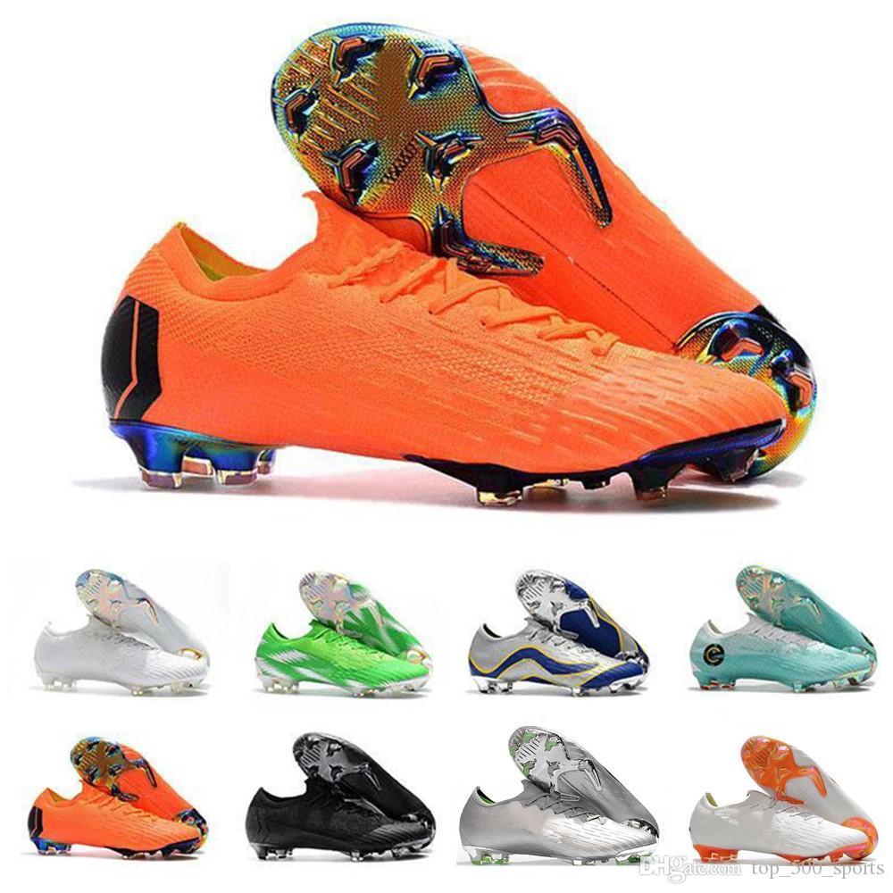 새로운 머큐리얼 슈퍼 플라이 VII 남성 낮은 발목 축구 신발 엘리트 FG 축구 부츠 CR7 슈퍼 플라이 VI 360 네이 마르 야외 축구 클리트