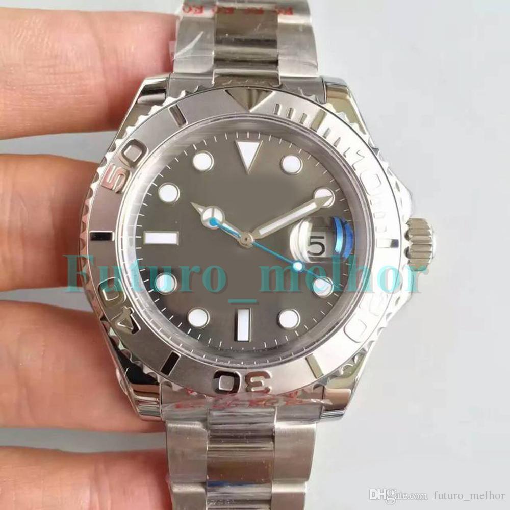 Новые Мужские Роскошные Часы Дизайнер YM Сапфир Керамическая Рамка 40 мм Человек Механический Автоматический Механизм Мужчины Из Нержавеющей Стали наручные часы MASTER
