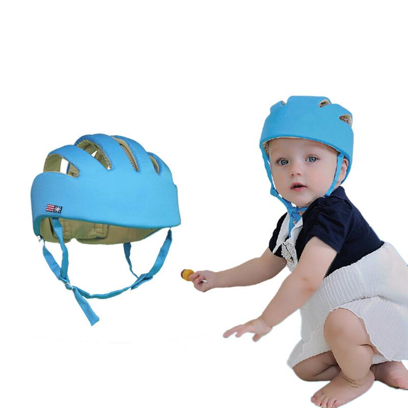 Bebek Şapka Çocuk Yürüyüş Paten Kafa Koruyucu Emniyet Ayarlanabilir Moda Pamuk Kumaş Headguard Erkek Çocuklar Kız Kask J190517 Caps