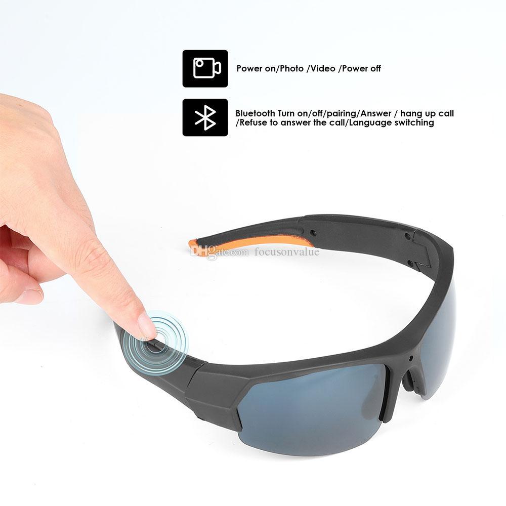 كامل HD النظارات الشمسية كاميرا 1080P بلوتوث نظارات الكاميرا الرياضية مع لاعب MP3 المحمولة من الباب نظارات مسجل فيديو البناء في 16GB 32GB