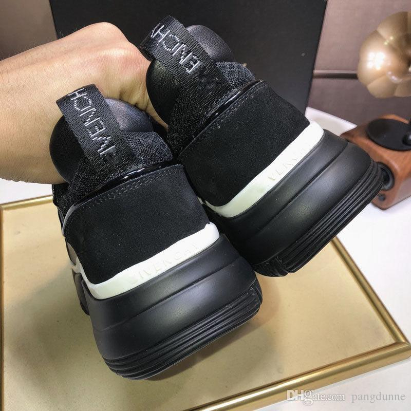 2019Givenchy Men ALL BLACK JAW 2019 Low Top NEOPRENE SUEDE MESH Sneakers Casual Shoes With Original Box Cheap Shoes For Women Brown Shoes From