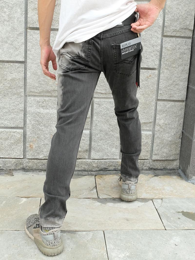 Nuevo estilo de los hombres de la moda de verano Sencillo Ligero Repl3 Jeans Moda casual Sólido Clásico Recto Denim Jeans de diseño Tamaño 29-38
