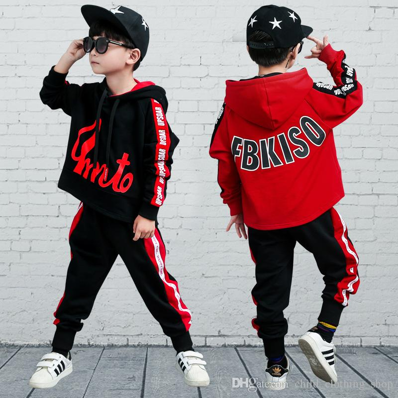 Hip-hop Boys Clothing Sets Kids Clothes Children Clothing Boys Clothes Suits Casual Full Camouflage For Kids Sport Suit For Boy 2019