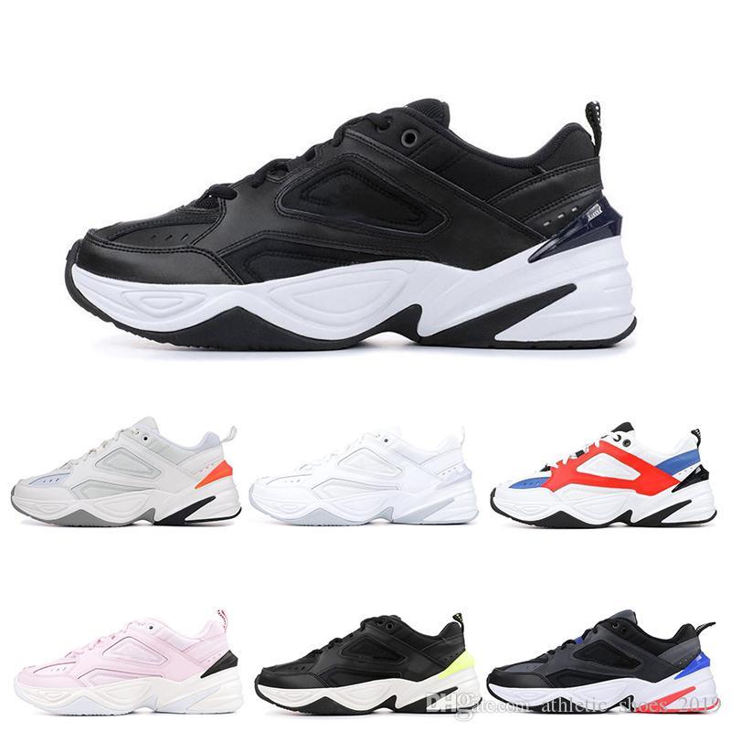 Nike M2k Tekno Dad pai Running Shoes Rosa Branco preto vermelho azul rosa moda Trainers Sneakers O envio gratuito de tamanho 36-45
