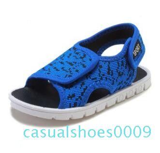 Дети сандалии конструктора девочек Сандалии летние Бич Chaussures мальчиков вскользь сандалии дышащий Sandalias Тапочки Sandale Мокасины Обувь c09