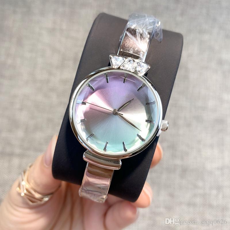 موضة جديدة الذهب ووتش الفولاذ المقاوم للصدأ ساعات اليد هدية لسيدة نساء فاخرة ساعات المعصم ساعة أنيقة ذات جودة عالية تصميم عصري خاص بالنسبة إلى