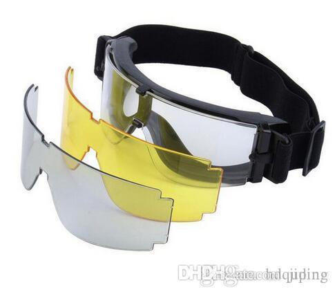 Brand Eyewear SinaaSoft Sonnenbrille USMC-Objektiv Taktische Goggles-2016 Radfahren Airsoft Krieg Spiele Spiegel Windgeschützte Goggles GX1000 x800 BL MVIH