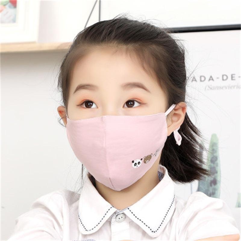 La prueba limpia y saludable respiradores de ventilación de la mascarilla fría contra la niebla niños de los niños de impresión boca Máscaras lavable 2 89ry H1