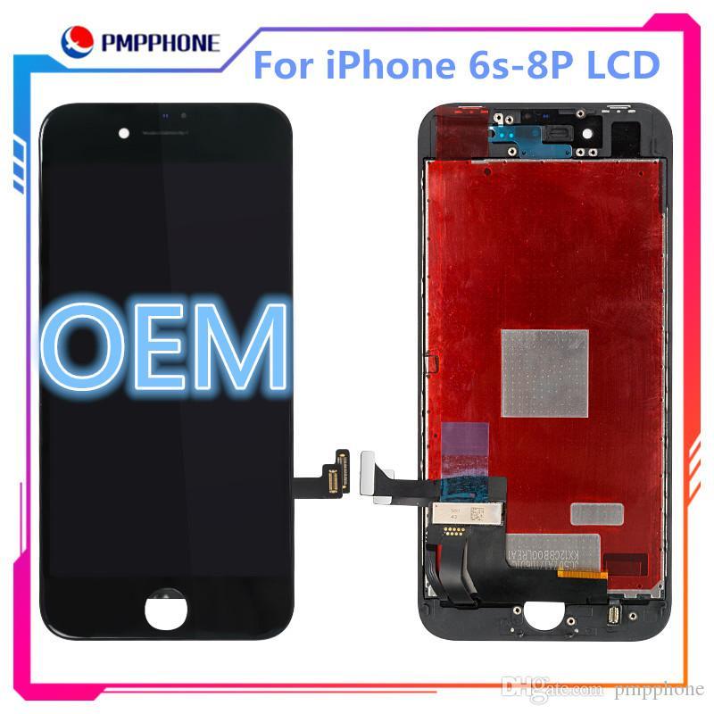 1: 1 OEM LCD لشاشة ابل اي فون 6S 6P 6SP 7G 7P 8G 8P شاشة LCD 3D اللمس محول الأرقام كاملة مع الشعار على فليكس