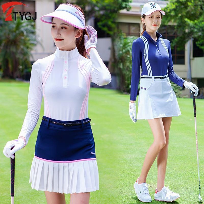 Et Automne Vêtements de golf femmes d'hiver de golf Chemises à séchage rapide Golf manches longues Hauts de sport Survêtements T-shirt D0851