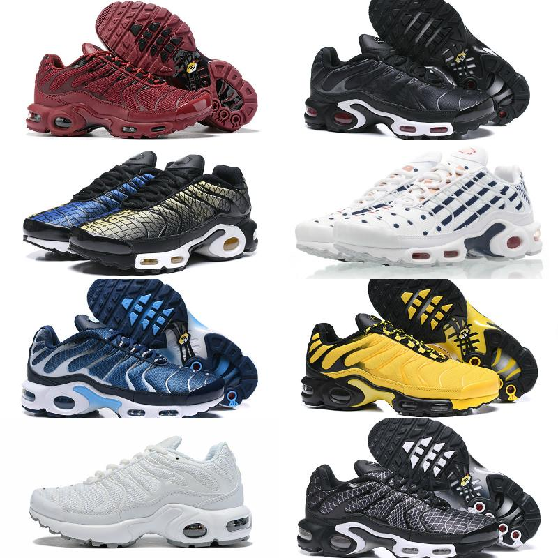 2020 Nike Air Max TN Plus Supreme Shoes airmax Tn Off white llegadas de malla transpirable Negro Azul Blanco Tn Requin de diseño de baloncesto Tns entrenador deportivo Zapatos