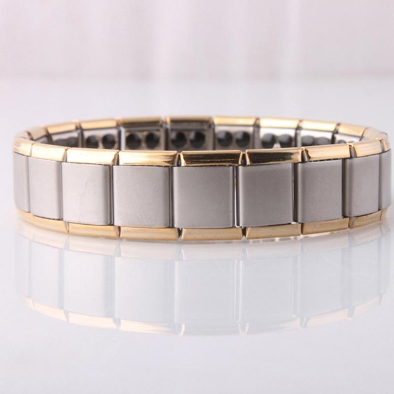 Edelstahl 80 Ge Magnetic Power Armband Armreif Energie Armband Energie Armband für Frauen Männer Strahlenschutz Schmuck Drop Ship
