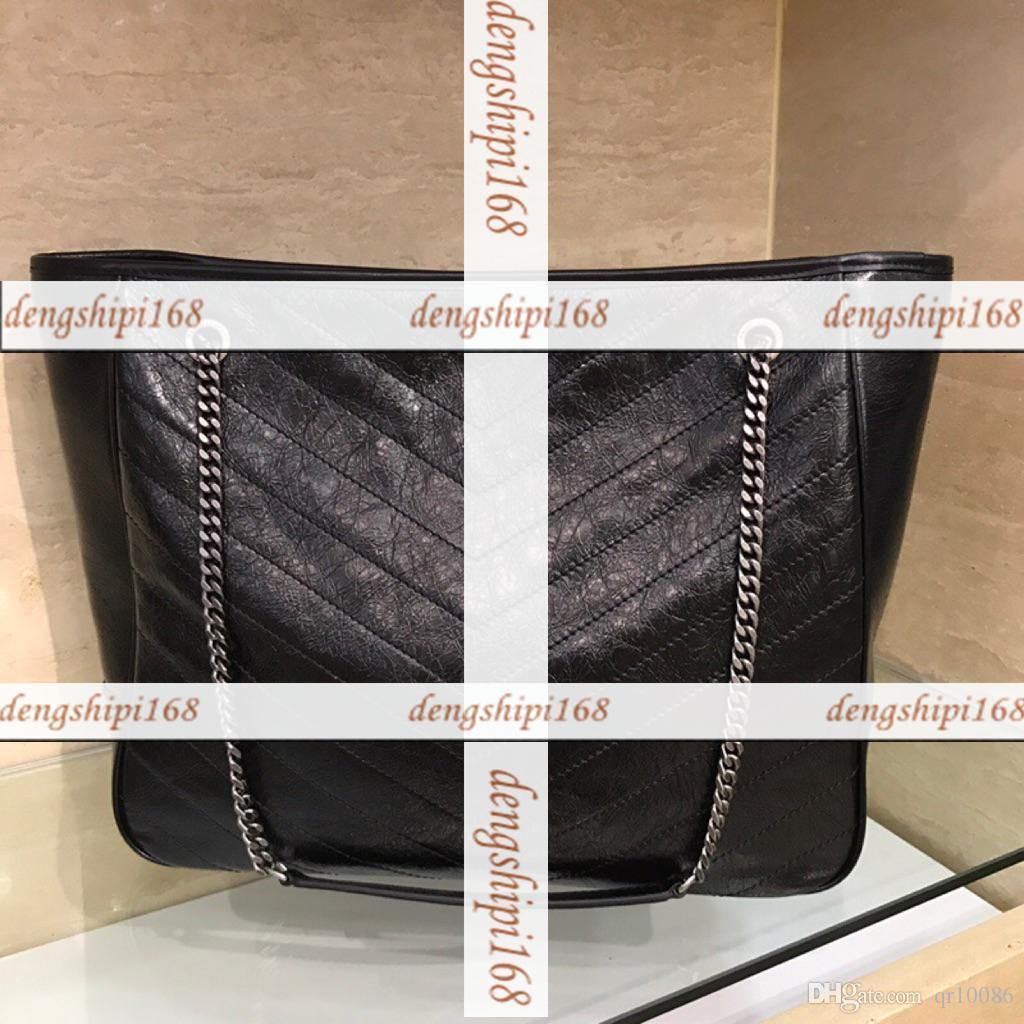 NIKI Versandtasche Handtasche Schultertasche Tragetasche aus echtem Leder
