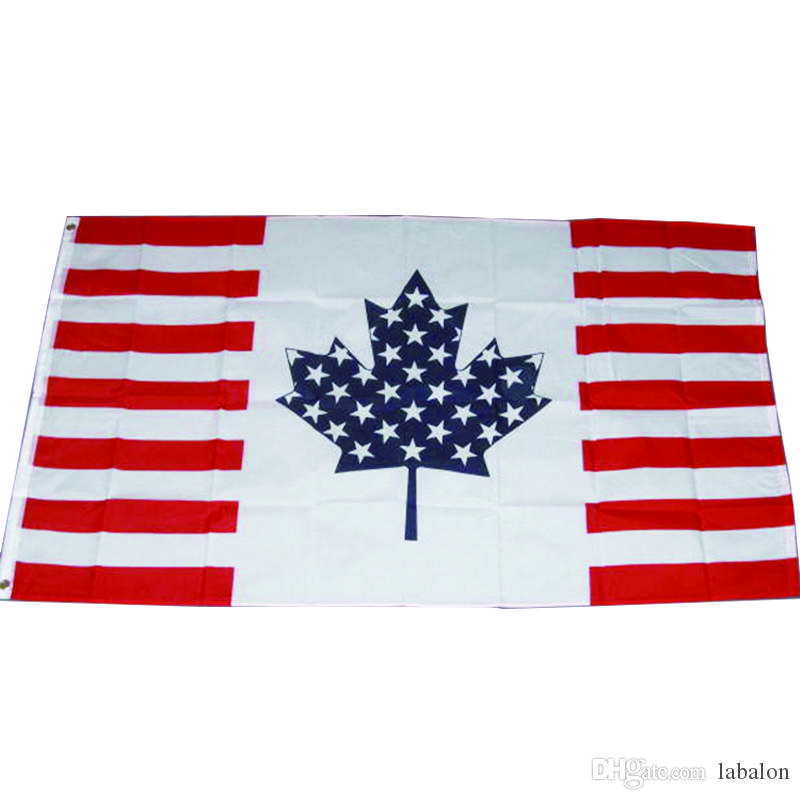 Impressions Decorative Garden Flag G158190-DB US Canada Friendship Burlap